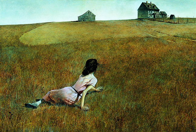 "Andrew Wyeth's ""Christina's World"", 1948."