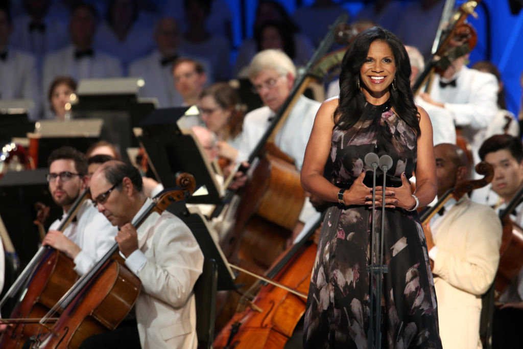 Audra McDonald, host of the Leonard Bernstein Centennial Celebration at Tanglewood, August 25, 2018.