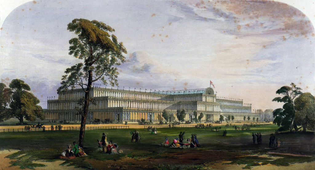 The Crystal Palace held the Great Exhibition in Hyde Park. Image: Dickinson's Comprehensive Pictures of the Great Exhibition of 1851