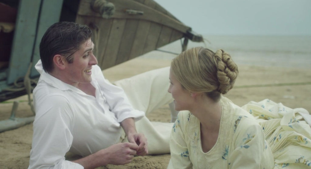 Joseph (David Burnett) and Sophie (Lily Travers) meet on the Irish shore in Victoria Season 3, Episode 5.