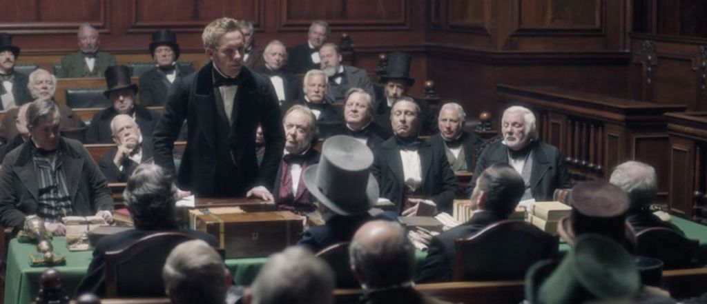 Lord Palmerston (Laurence Fox) asserts his position in the Don Pacifico affair.