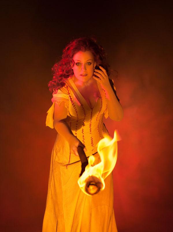 "Deborah Voigt as Brünnhilde in Wagner's Götterdämmerung."" Photo: Brigitte Lacombe/Metropolitan Opera"