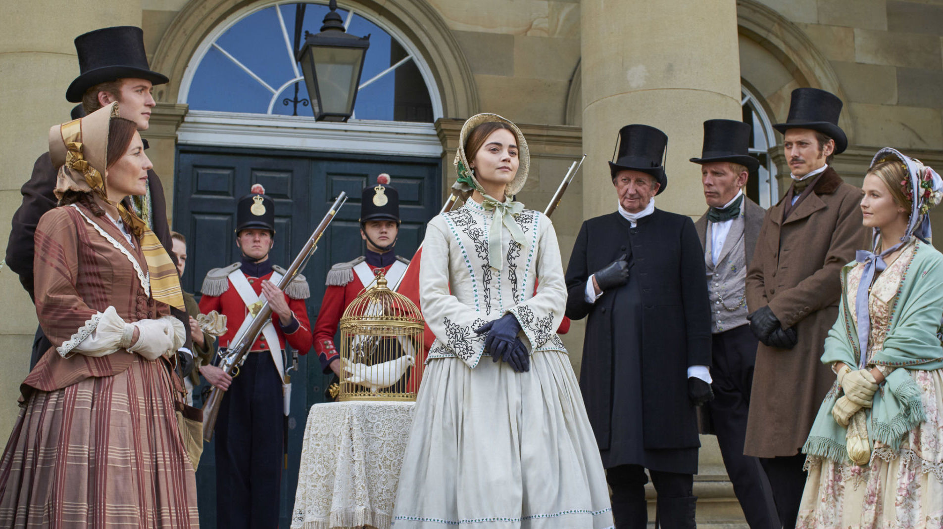 Lord Alfred, far left, in Episode 5. This was Lord Alfred's only photo opportunity in Victoria Season 3 on Masterpiece.