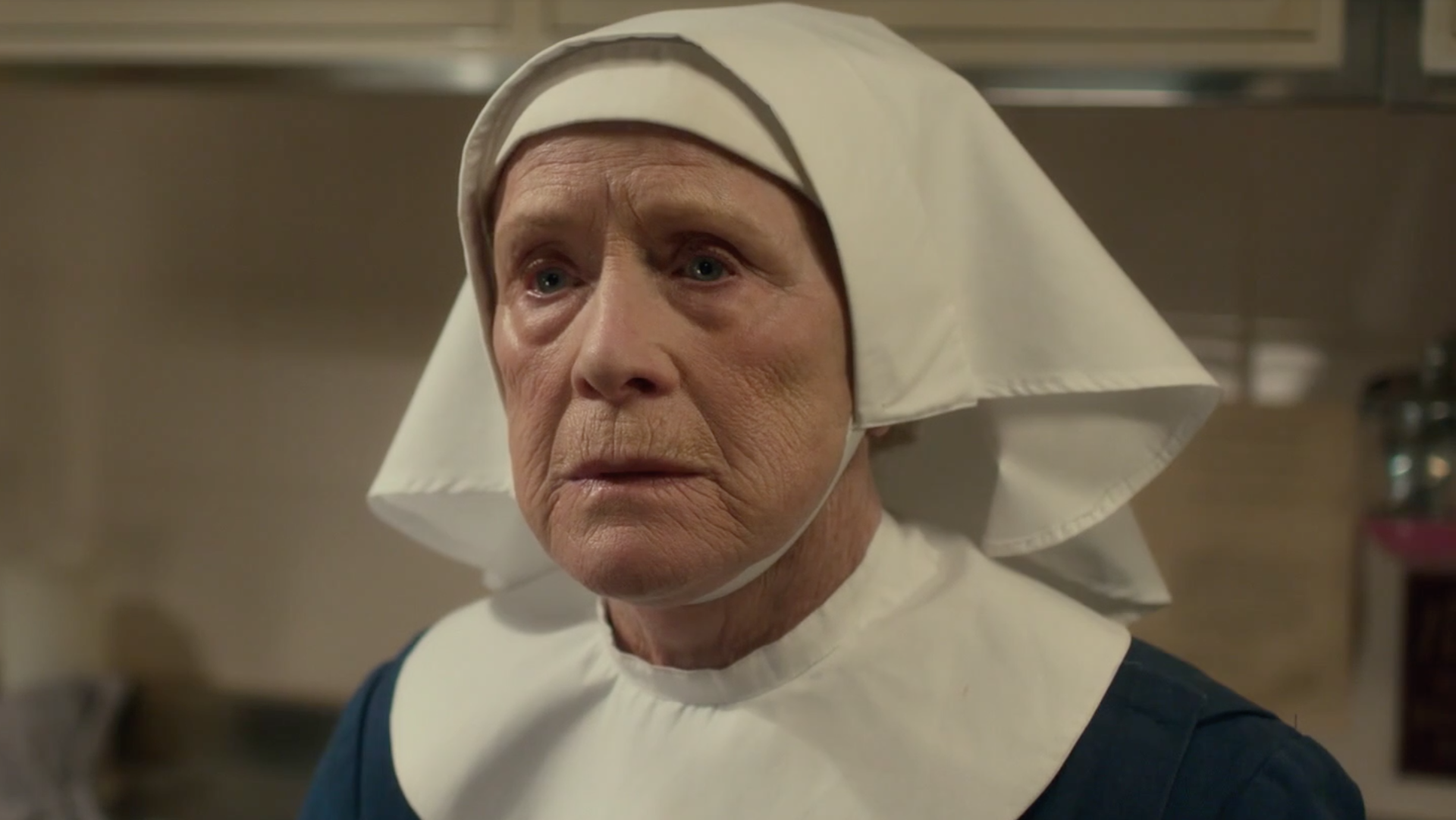 Sister Monica Joan (Judy Parfitt) learns that the old midwife bags will be replaced and discarded.