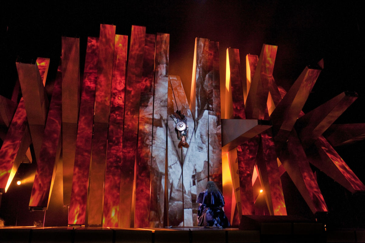 The Act 3 finale of Wagner's Die Walküre with Wotan and the sleeping Brünnhilde.