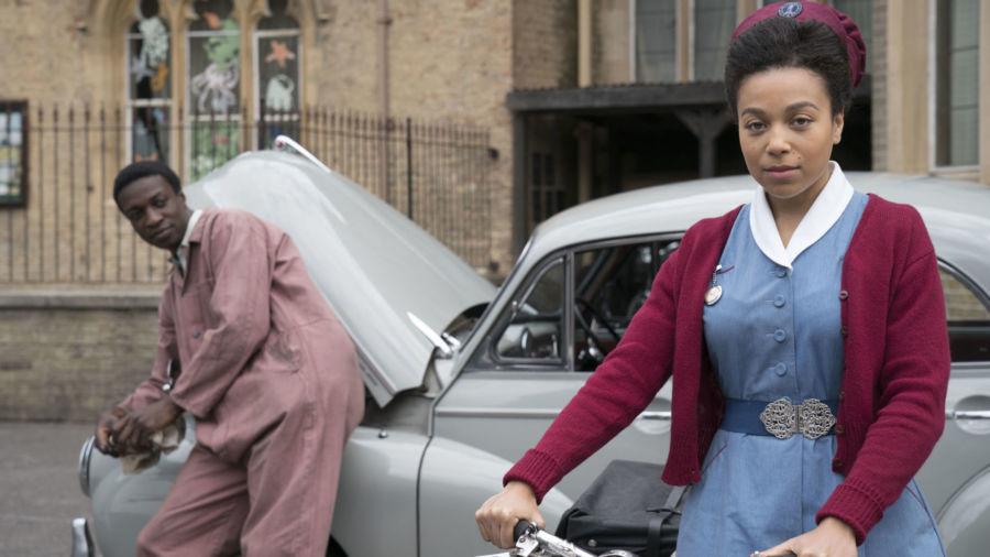 Cyril Robinson (ZEPHRYN TAITTE), Nurse Lucille Anderson (LEONIE ELLIOTT) meet when he repairs Phyllis Cranes car.