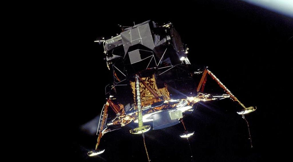 The Apollo 11 Lunar Module Eagle, in a landing configuration. Photo: NASA