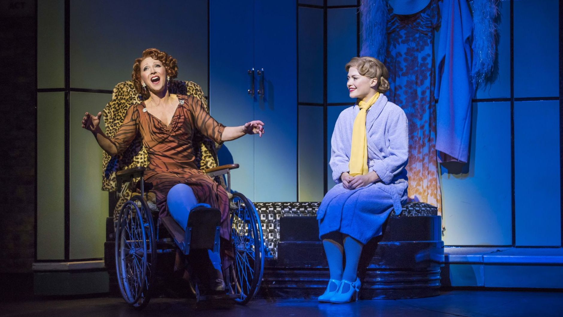 Bonnie Langford and Clare Halse in 42nd Street on Great Performances. Photo by Brinkhoff/Moegenburg.