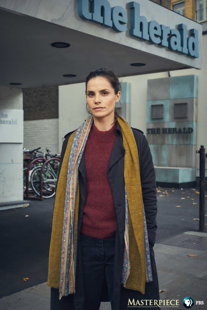 Charlotte Riley is HOlly Evans on Press. Photo: Robert Viglasky/BBC Studios