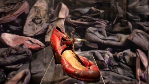 What's in the Auschwitz Exhibition in New York City?