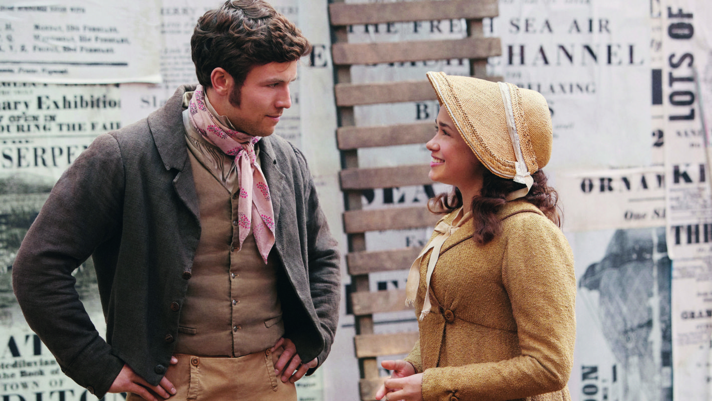 Leo Suter as Young Stringer and Rose Williams as Charlotte Heywood in Sanditon.